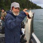 Silver salmon on the Kenai