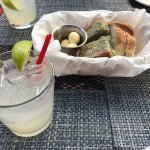 Silvercoin Margarita (with bread in background)