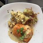 Char Artique (Arctic char with lobster gruyere stuffing)