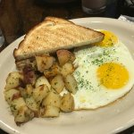 Two eggs and breakfast potatoes