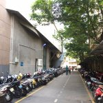 Available parking for motorbike also