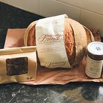 Delicious gourmet souvenirs. Milwaukee bread (corn), Beechworth Honey and fudge hand-made by one