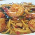 King Pao Spaghetti with Shrimp