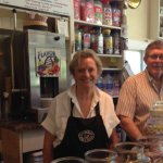 Trish and Bryan Haber, owners.  Trish creates quality quiche, Bryan's super at soups.