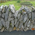 """""""Dry"""" (not mortared) stone wall"""