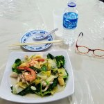 Mixed vegetables (with seafood).