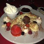 Le dessert du faulois...le banana split avec glace berthillon et pop corn...délicieux et tres co
