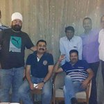 With friends at my suite in Clark's Avadh
