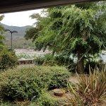 Jardin y vistas del restaurante