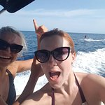Birthday celebration with water skiing and wakeboarding with Ibiza Hire Boat.