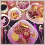 International breakfast buffet at Marriott Cafe