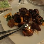 Lachs ,gegrillter Pilz-Mix-Alles frisch und delizös!Sehr empfehlenswert!