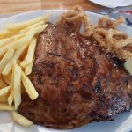 ribs, calamari and chips