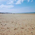 Calais beach is 5 mins walk from the hotel.