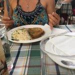 Rindfleisch mit Reis und Saft