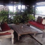 Sitting area on the rooftop