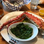 King Crab Legs & spinach!