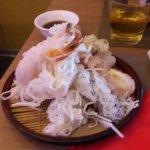 tempura di gamberi e verdure