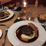 Amazing amazing food! Smoked prawns, rib eye steak and the cheese board!