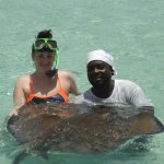 One of the stingray wranglers