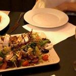 Patatas bravas & Salad with goat cheese