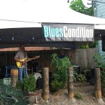 "Fun band on beach, ""Blues Condition"""
