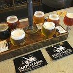 Taster Flight at Parts & Labor Brewing