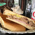 Cuban sandwich. Easily can be shared by two people