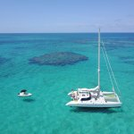 Anchored off Fowl Cay Preserve for a snorkel!