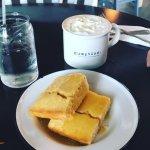 Corn Bread and Brown Sugar Latte