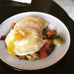 Breakfast Hash with Brussels Sprouts and Sweet Potatoes