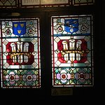 Stained glass entrance doors