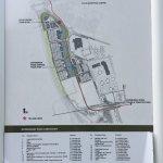 Plan du centre d'affaires. L'Ibis budget est au numéro 12, l'arrêt de Tram se nomme Gyle Centre.