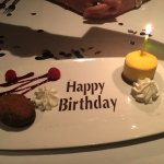 Our complimentary birthday dessert. Yum.