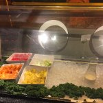 The buffet screen looked like it had been wiped with a dirty dishcloth.