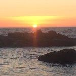 Preciosa vista de puesta de sol