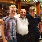 My boys with Tarek, top, top man