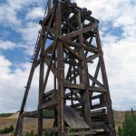 Old mine headframe. Several of these in various places.