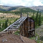 Old ore bin and trestle.