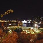 Night view of the seashore