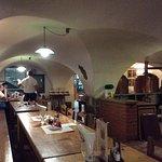 Huge long dining room