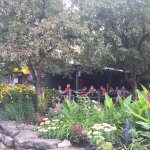 Outdoor patio at the Yellow Canoe Cafe