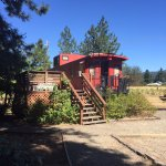 The Southern Pacific caboose & deck!