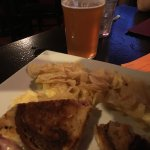 great sandwich and beer