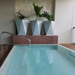 private plunge pool felt amazing on a hot August day!
