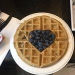 Breakfast waffles yum <3