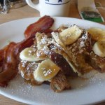 Banana Bread French Toast with scratch made Caramel Sauce