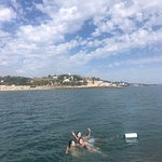 Refreshing dive in Tagus river