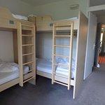 L'espace montagne, qui, dans cette chambre pour 6, est comme une 2ème chambre indépendante