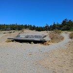 Underground bunker near the bluff